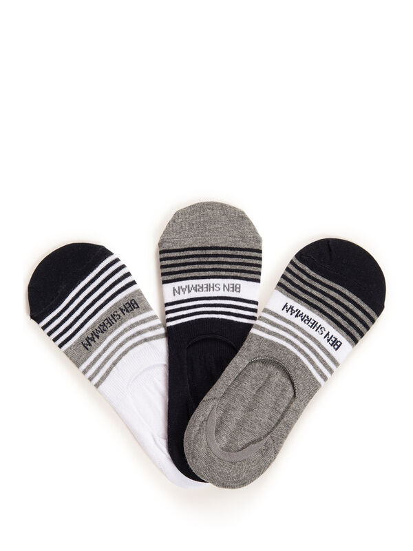3 Pack Footie Socks
